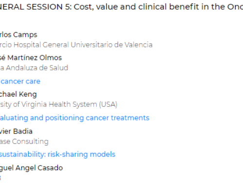 "Today at 1.30pm, Dr. Badía participates as an expert in the session ""Cost, value and clinical benefit in the Oncology setting"" to talk about  MCDA for evaluating and positioning cancer treatments."